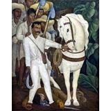Lienzo Tela Arte Canvas Zapata Diego Rivera 1931 80 X 100 Cm