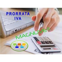 Sistema Formato Excel Calculo Prorrata Iva Según Ley