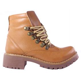 Borcegos Mujer Botas Acordonados Taco Invierno Zapatos Tops