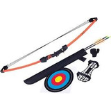 Arco Recurvo Poleas Americano Flechas Kit