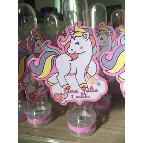 Lembrancinha Unicornio 10 Tubetes Personalizados