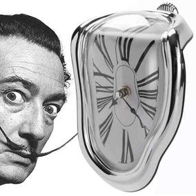 Reloj Blando Plata Estilo Surrealista De Salvador Dali H9002