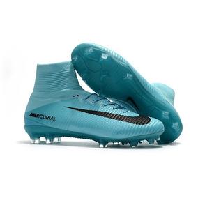 c163ef0e8e3e1 Chuteira Nike Mercurial Vortex Azul Piscina Pronta Entrega ...