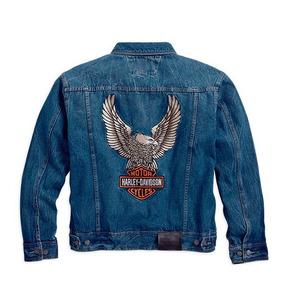 Chaqueta Harley Davidson Chamarra Moto Mezclilla Aguila / J