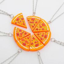 Um Pedaço Colar De Pizza Cordão Melhores Amigos Best Friends