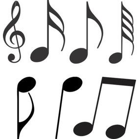 Adesivo Decorativos 42 Notas Musicais Para Quarto, Geladeira