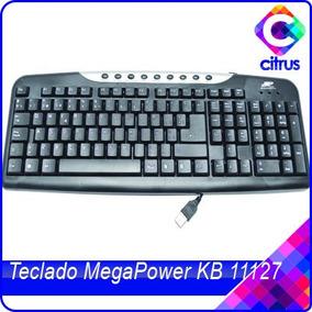 Teclado Usb 2.0 Multimedia Negro Megapower Español