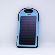 Power Bank Solar Con Luz Led Recargable 5000mah