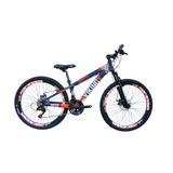 Bicicleta Vikingx Freeride Aro 26 Freio Disco Bike Roxa Lar