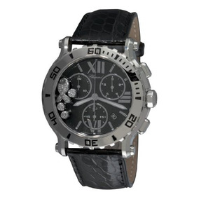 Chopard Mujer L Happy Sport Chronograph Reloj De Cuero Neg