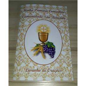 15 Livrinhos De Orações Primeira Comunhão Eucaristia Dourado
