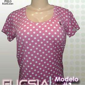 Camisa Con Volados - Franelas Mujer Manga Corta en Mercado Libre ... 579d6299025