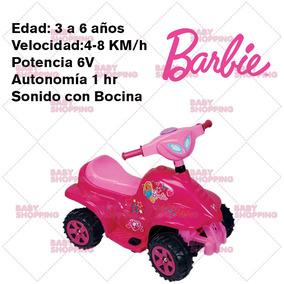 Cuatriciclo A Bateria Infantil 6 V Nena Mini Quad Barbie