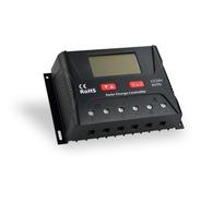 Controlador Solar Carga Pwm 40a 12v 24v Com Tela Lcd E Usb