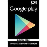 Usd 25 Google Play Gift Card Se Acepta Tarjeta Credito