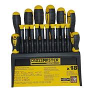 Set Kit Juego Destornilladores Crossmaster 18pz 9940999