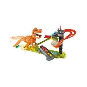 Pista De Carrinho Hot Wheels Ataque Dinossauro T-rex Musical