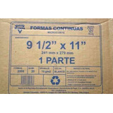 Papel Forma Continua Hojas Carta 9 1/2 X 11 1 Parte Oferta