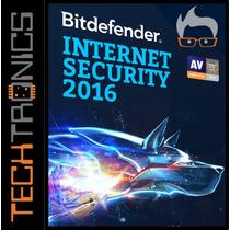 Bitdefender Internet Security 2016 3pc X 1año No Eset Mcafee
