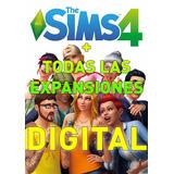 Los Sims 4 + Todas Sus Expansiones Digital Juego Pc