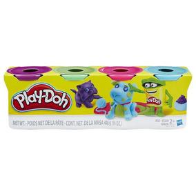Play-doh Paquete De 4 Latas Colores Clásicos