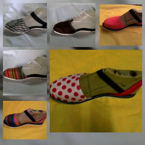Sandalia De Tela Tipo Alpargatas Para Damas