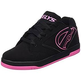 Tenis Heelys Propel 2.0 Negros Con Rosa Hot Pink Talla 25 Mx