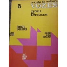 Livro Teoria Da Linguagem Revista De Cultura Vozes Número 5