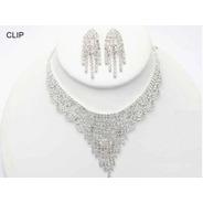 Collar Con Aretes De Clip Cafu188-02 A20