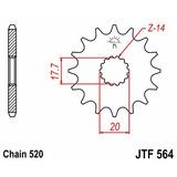 Piñon Transmision Jt Jtf564.13 Yamaha Yz125 Wr200 - Sandin