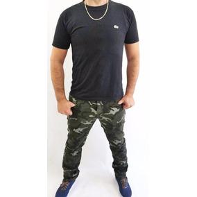 Calça Jeans Masculina Camuflada Grandes Marcas