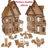 Casa Casinha Boneca Polly Castelo Com 27 Mini Móveis_cc1