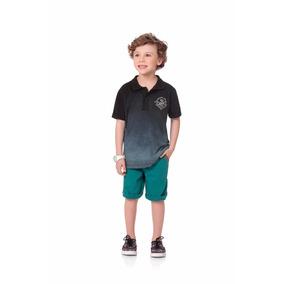 Roupa Infantil Masculina Camisa Polo 100% Algodão Fakini