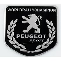 Emblema Peugeot Sport - Brasão World Rally Champion Alumínio