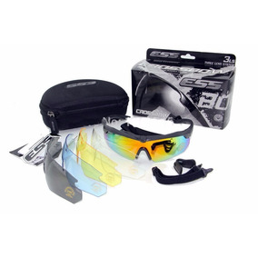 Lentes Tactico Ess Crossbow Pack 5 Lentes Colo Negro Y Arena