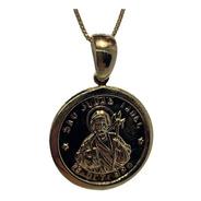 Cadena Baño De Oro Modelo San Judas Tadeo