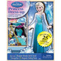 Frozen Elsa Vestir Princesa De Madera Magnética Juego Set 25