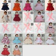 Kit Com 4 Vestidos De Bebê Reborn Katitus Boneca