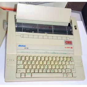 Máquina De Escrever Eletrônica Portátil Dismac Olympia Ex-88
