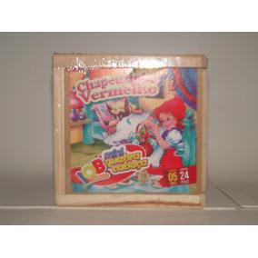 Jogo Mini Quebra-cabeça Chapeuzinho 24 Peças Brinquedo