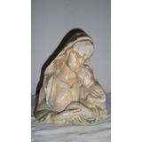 Antigua Figura Virgen Maria Florero Yeso A Restaurar Pintura