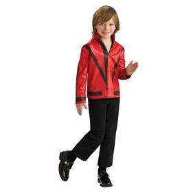 Disfraz Para Niño Rojo Suspense Chaqueta De Michael Jackson