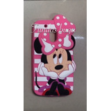 Funda Moto G4 Play Minnie Mouse Silicon Protector Goma 3d