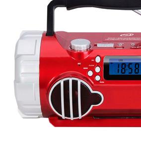 Boombox Bluetooth Corneta Portátil Technical Bx4r Rojo