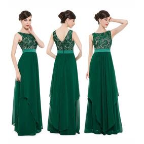 Vestido Verde G Casamento Madrinha Mãe De Noivo De Noiva