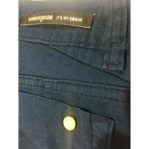 Jean Gabardina Semielastizado Union Good Talle 38 Azul Nuevo