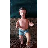 Antiguo Niño Dios !! Tallado En Madera