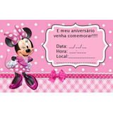 Convite Digital Virtual Whatsapp Face E-mail- Minnie Rosa!!!