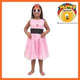 Disfraz Superpoderosas Bombon (rosa) C/luz -t0
