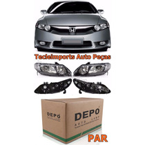 Par Farol New Civic 2007 2008 2009 2010 2011 Honda Novo